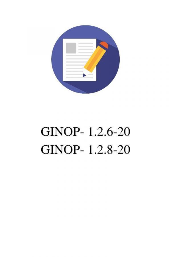 GINOP-1.2.6-20/1.2.8-20 pályázatok