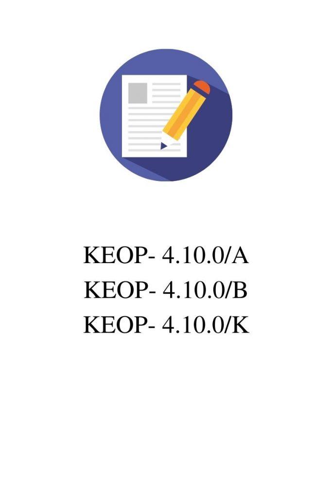 KEOP-4.10.0 pályázatok