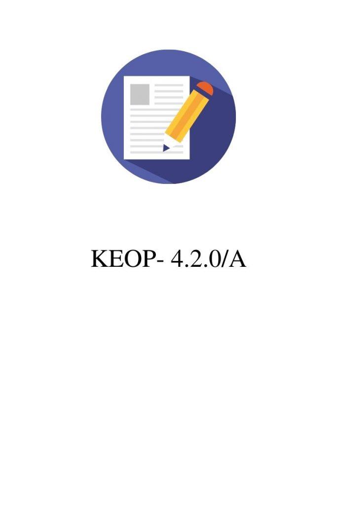 KEOP-4.2.0/A pályázat